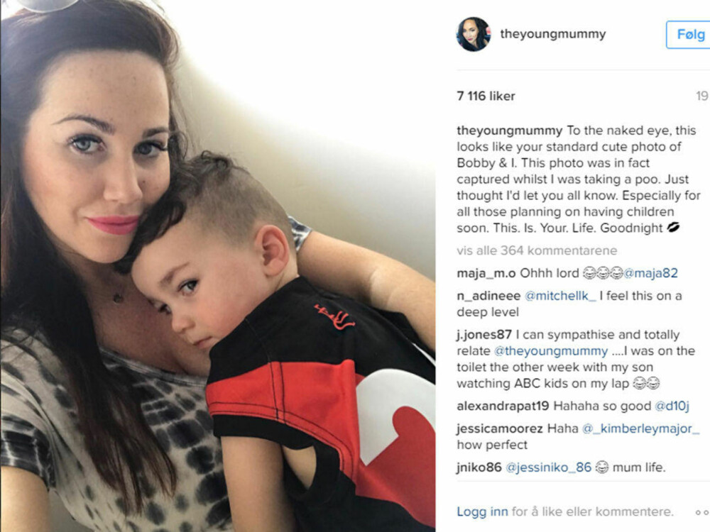 Mammablogger Sophie Cachia La Ut Bilde Av Seg Selv Og Sønnen På