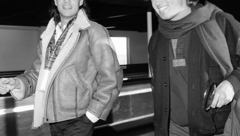 WHAM: Andrew Ridgeley og George Michael utgjorde den britiske popduoen Wham.
