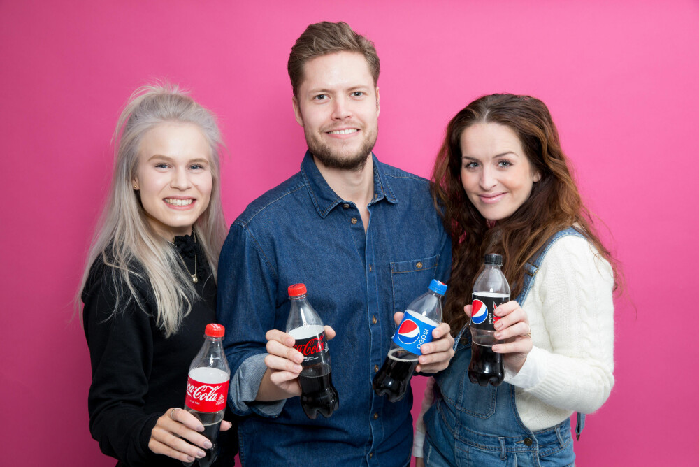 Smaker testpanelet forskjell på Pepsi, Coca Cola, Cola Zero og Pepsi Max? Sjekk video lenger ned på siden.