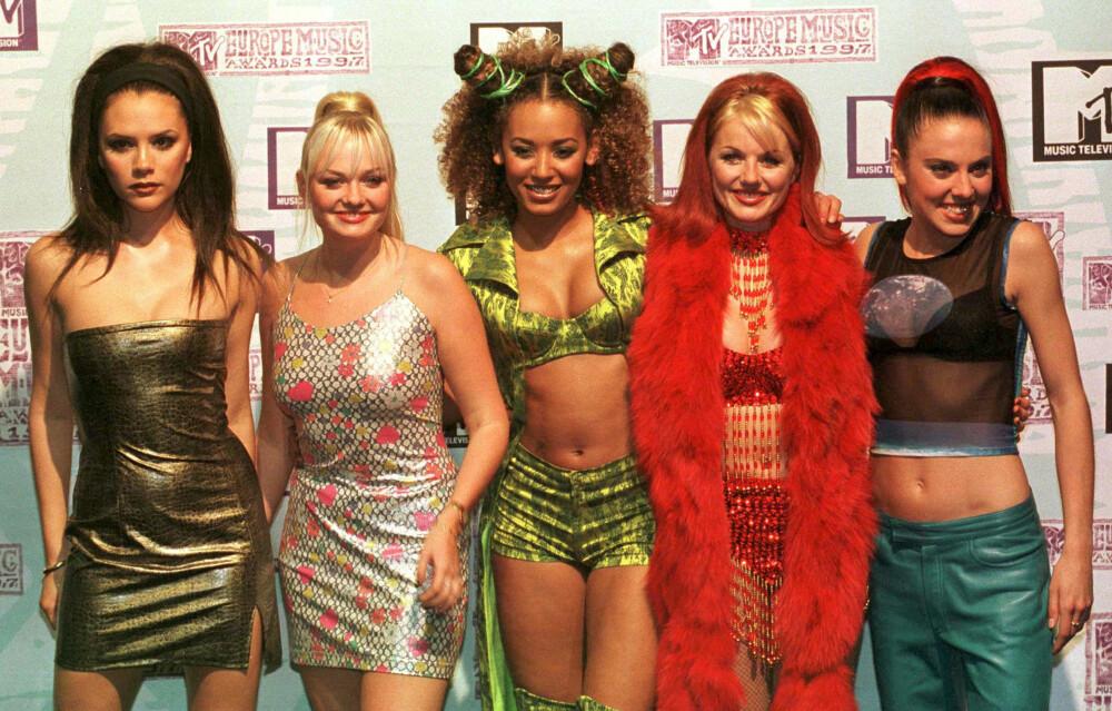 Spice Girls i gode, gamle dager. Nå skal gruppen ha blitt spurt om å opptre i prins Harry og Meghan Markles bryllup.