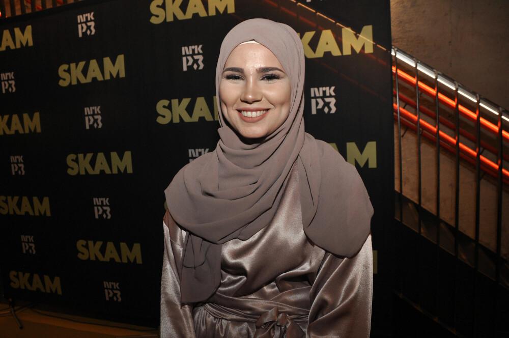 GULLRUTEN-NOMINERT: Iman Meskini på avslutningsfesten for Skam på Sentralen i Oslo i juni i fjor. Iman er nominert til Publikumsprisen under Gullruten for rollen sin som Sana i Skam.