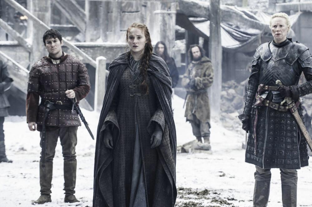 STERKE KVINNER: Sansa Stark og Brienne of Tarth er to karakterer som markerer seg i sesong sju av Game of Thrones.