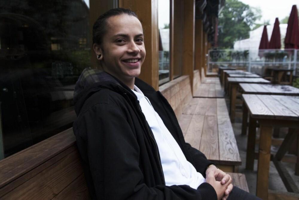 Noah Lindaas svarer på spørsmålet «Hvordan er det å være transperson i dag?» under Sex og samfunns Skamløsdag på mandag.
