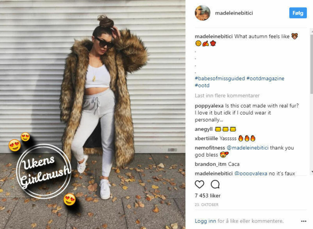 Ukens girlcrush: Madeleine Bitici
