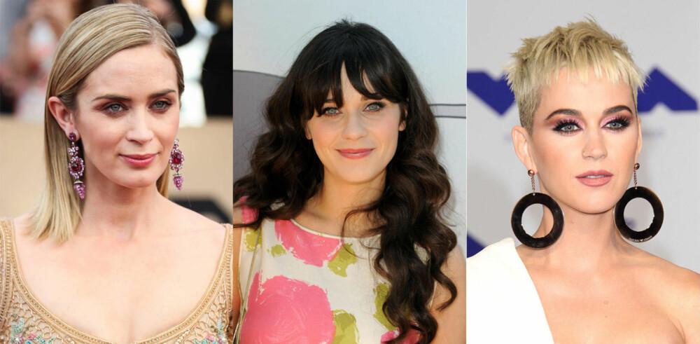 Emily Blunt, Zooey Deschanel og Katy Perry.