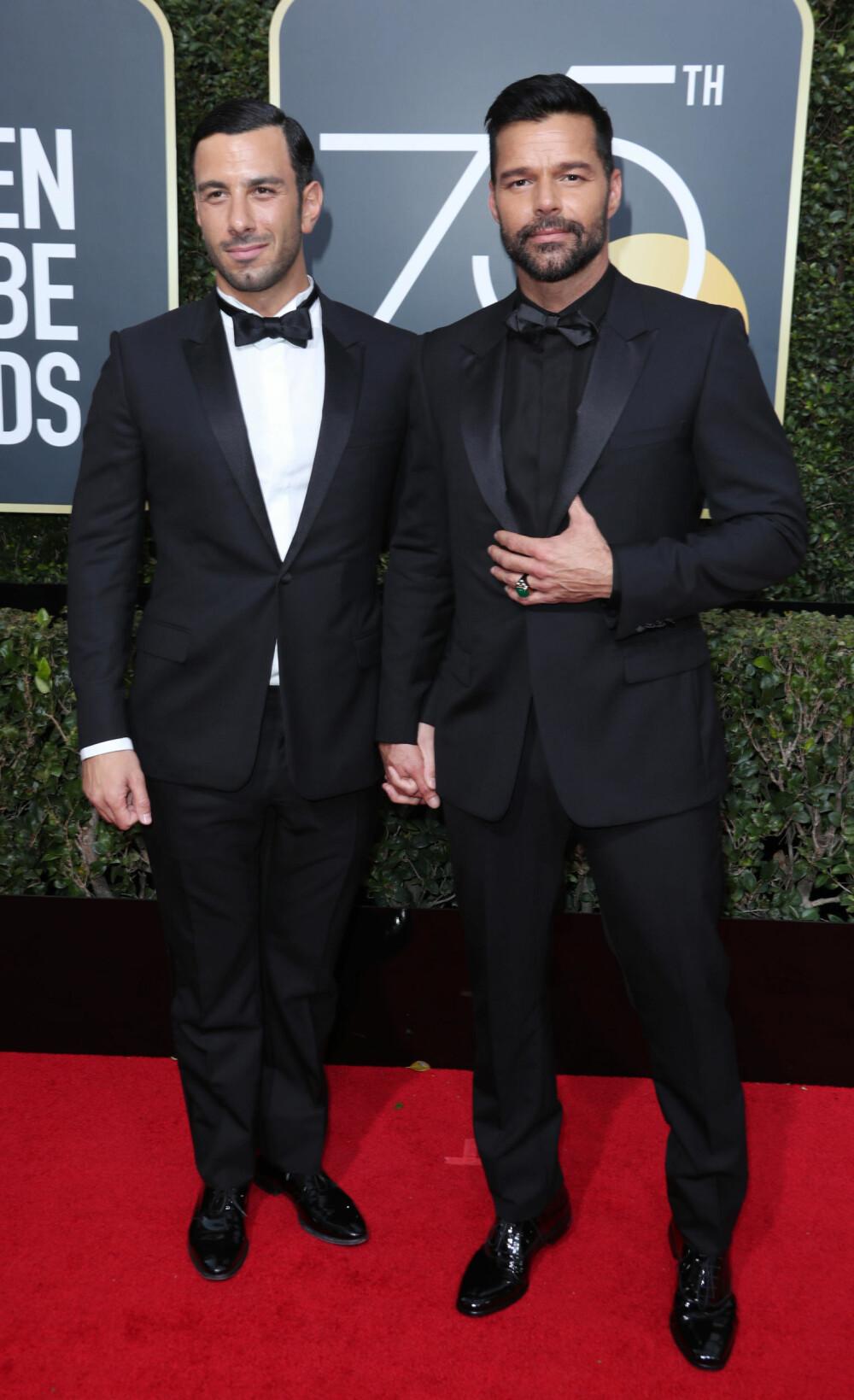Ricky Martin med partneren Jwan Yosef.