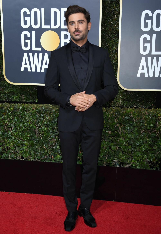 Zac Efron under årets Golden Globe Awards.