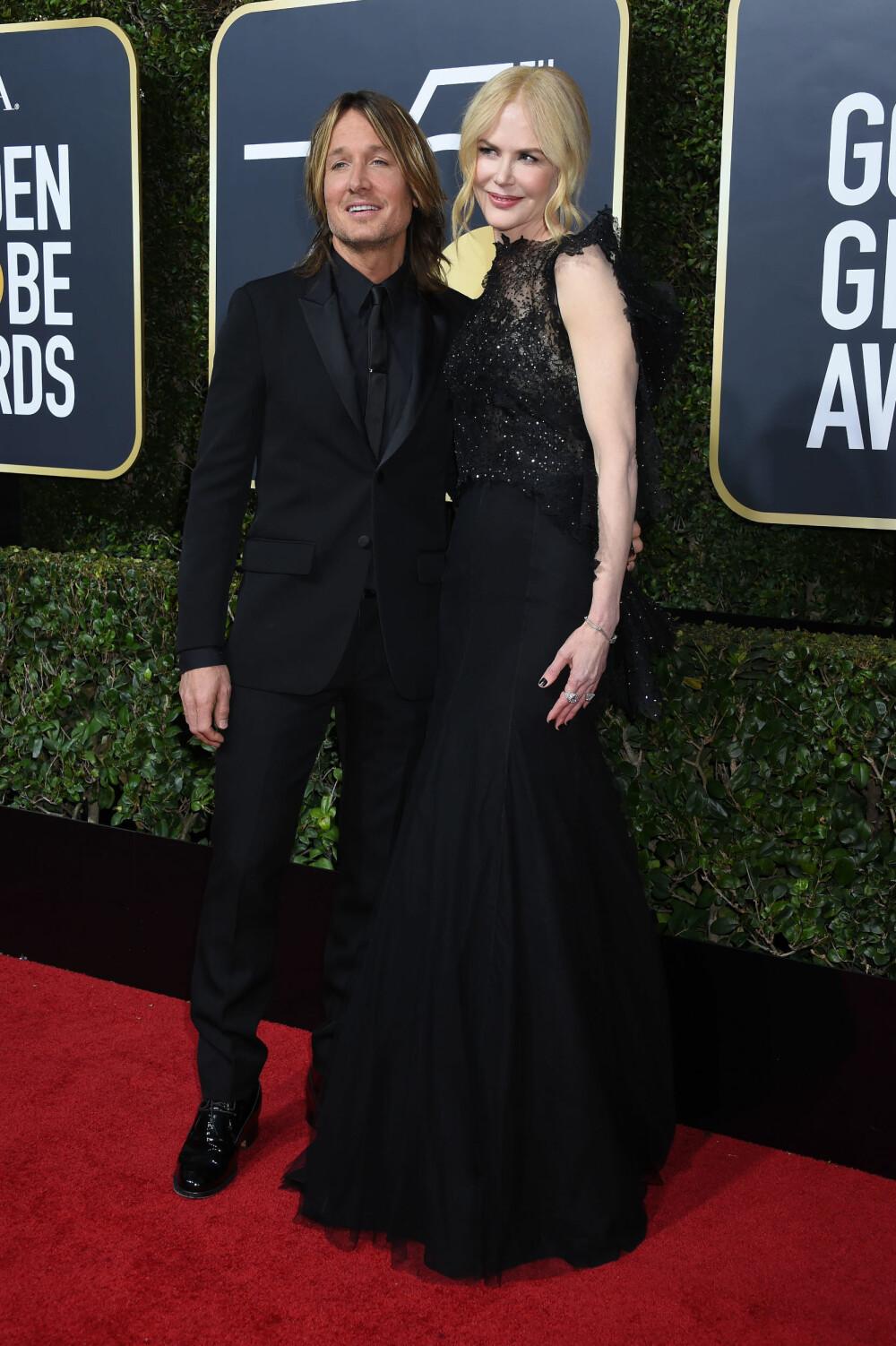 Nicole Kidman og ektemannen Keith Urban under årets Golden Globe Awards.