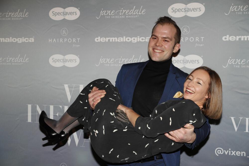 Blogger Peter Kihlman aka Pappahjerte og kona Christina Sandnes før VIXEN Influencer Awards 2017 deles ut søndag kveld på Grand hotell.