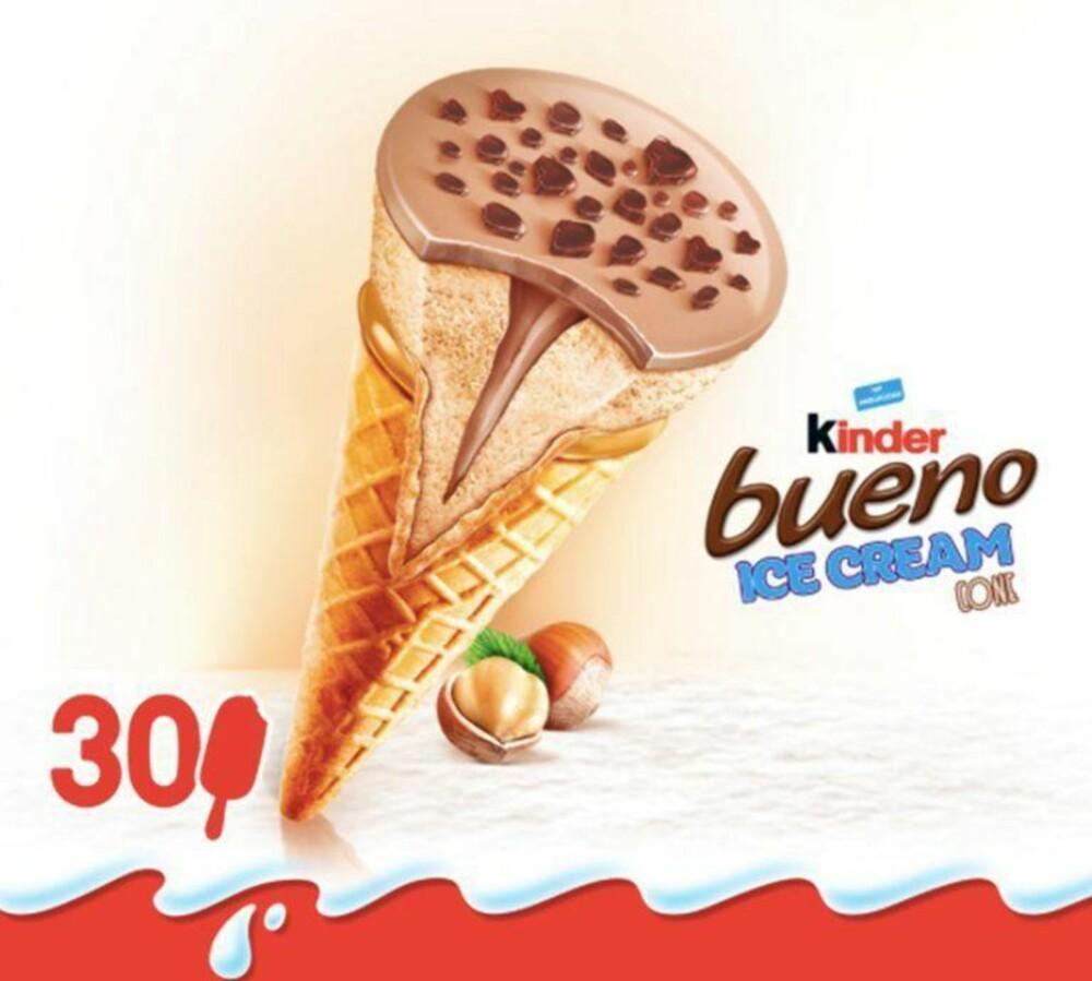 Kinder bueno iskrem kommer blant annet til Frankrike i år.