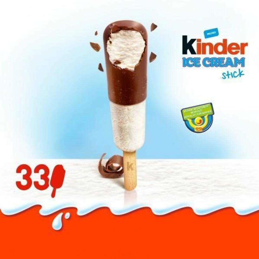Kinder ice cream stick.