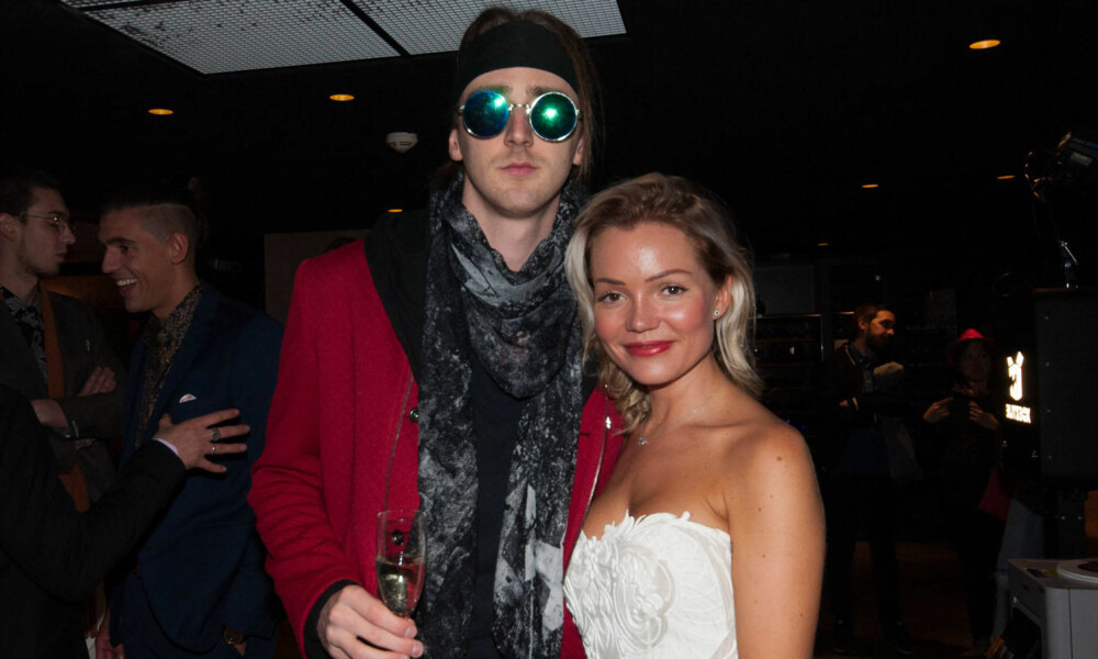 TIX og Ann Marielle Lipinska under årets premierefest til Paradise Hotel 2018.