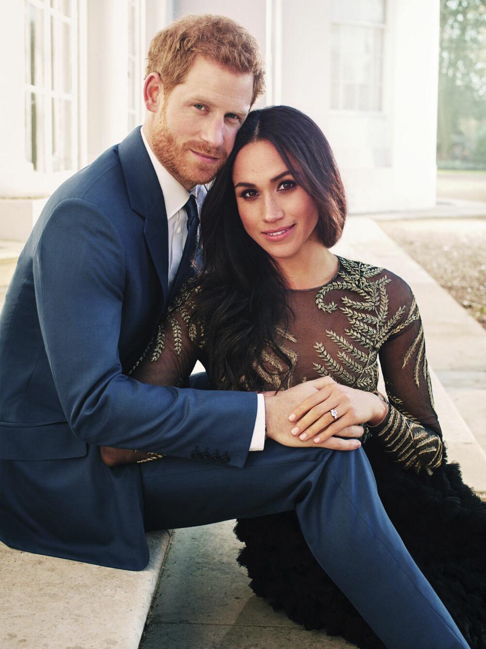 DYRT BRULLUP: Prins Harry og Meghan Markle gifter seg 19. mai i St. George's Chapel i Windsor Castle. Her er paret på et av sine offisielle forlovelsesbilder fra vinteren i år.