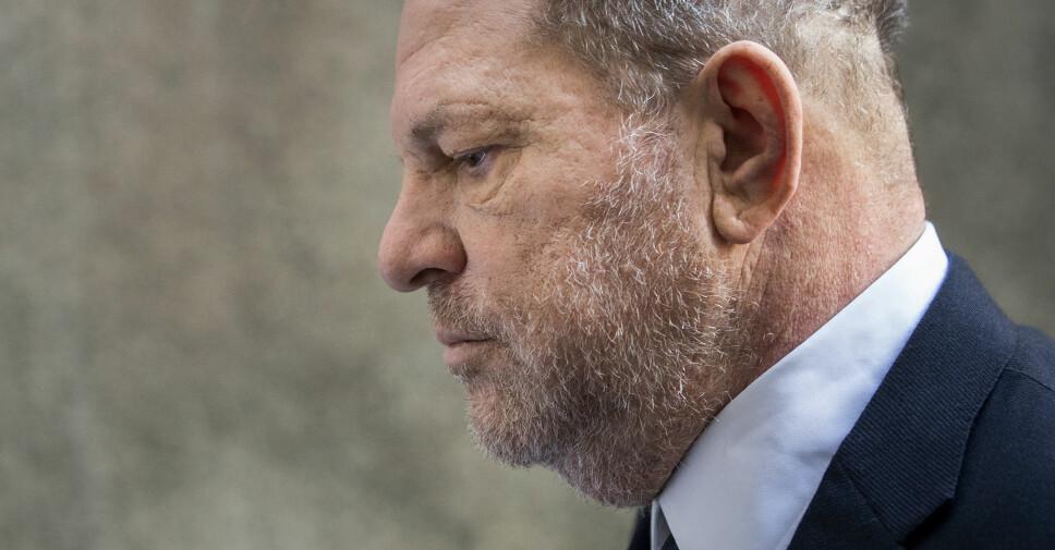 ERKJENTE IKKE STRAFFSKYLD: Harvey Weinstein utenfor førsteinstansdomstolen i New York juni 2018.