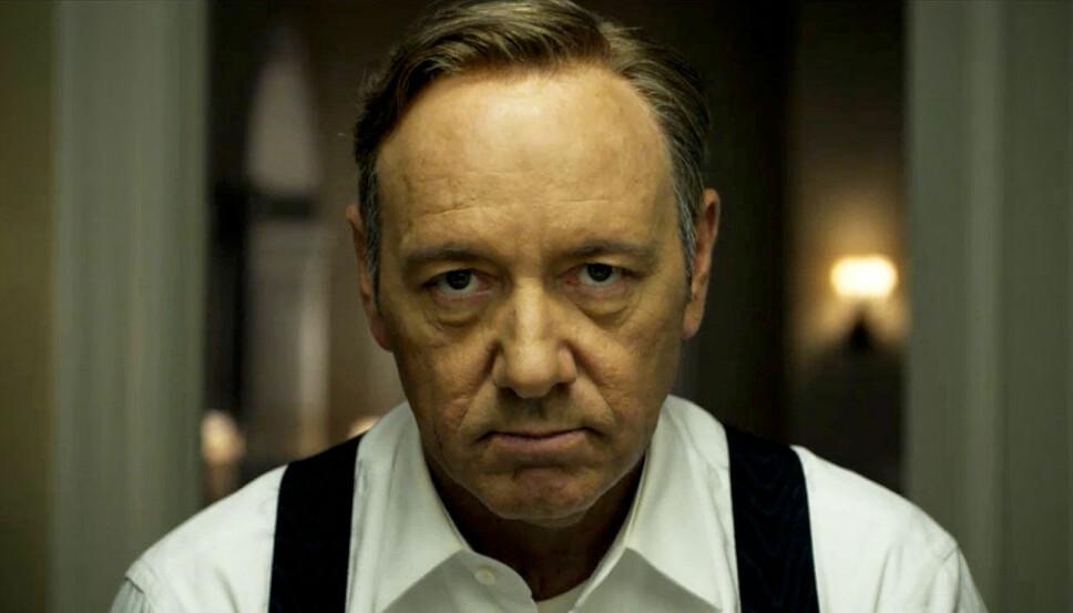 FIKK SPARKEN: Skuespiller Kevin Spacey mistet rollen som Francis Underwood i House Of Cards etter at han ble anklaget for upassende oppførsel og overgrep.