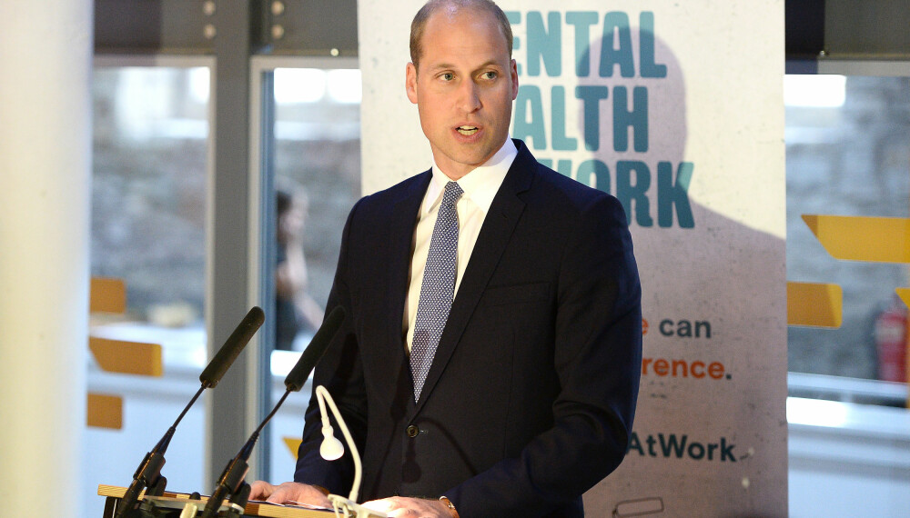 Prins William taler under Mental Health-prosjektet.
