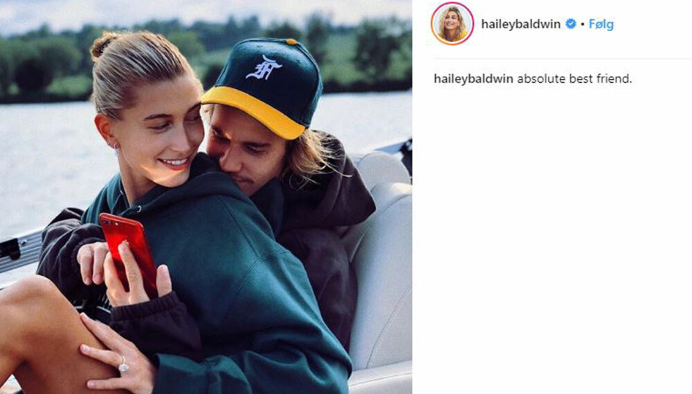 Gifteklare: Justin og Hailey forlovet seg tidligere i år.