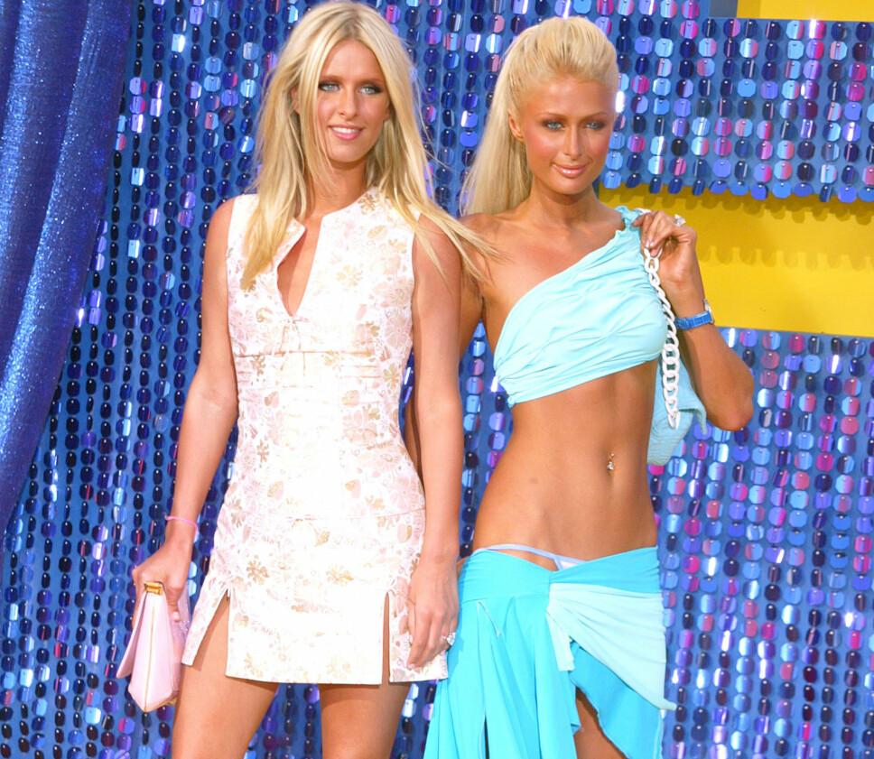 Nicky og Paris Hilton.