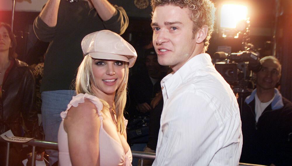 Britney Spears, her sammen med sin daværende kjæreste Justin Timberlake.