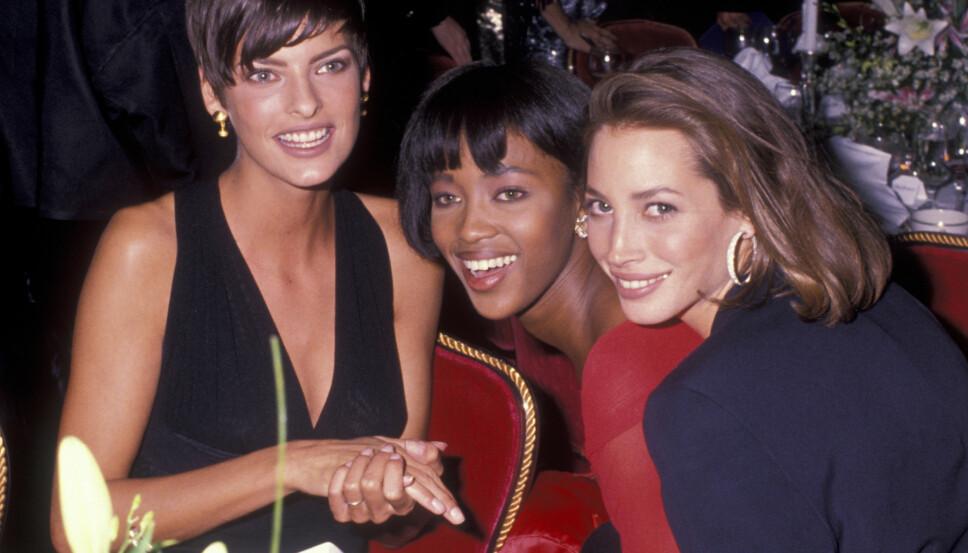 SUPERMODELLENES STORHETSTID: Linda Evangelista, Naomi Campbell og Christy Turlington var 90-tallets it-jenter.