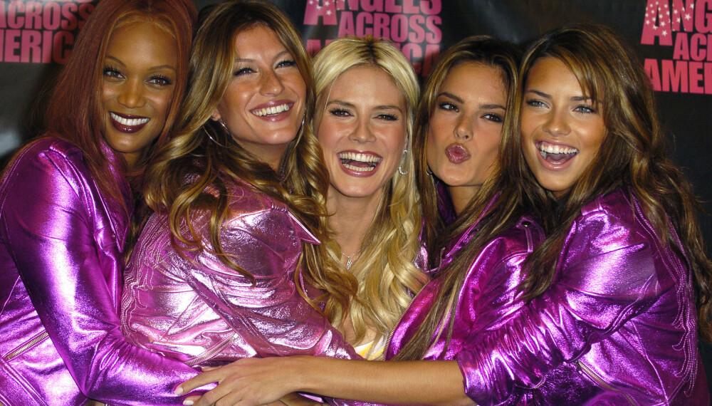 Ingen var mer ettertraktede enn Victoria`s Secret-modellene.. F.V. Tyra Banks, Gisele Bundchen, Heidi Klum, Alessandra Ambrosio og Adriana Lima.