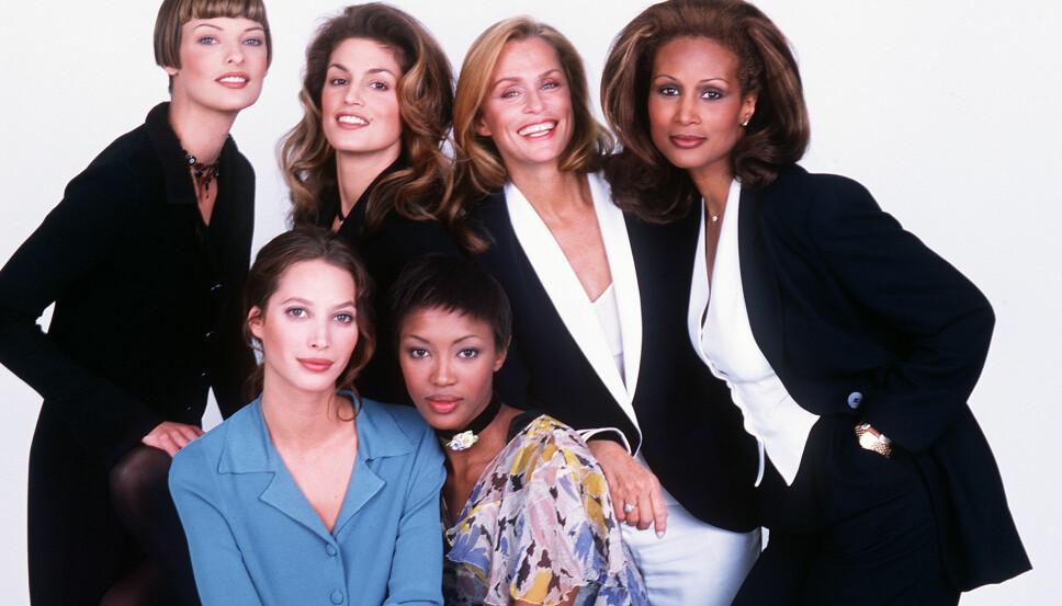 SUPERMODELLER MED STOR S: Linda Evangelista, Cindy Crawford, Lauren Hutton, Beverly Johnson, Christy Turlington og Naomi Campbell.