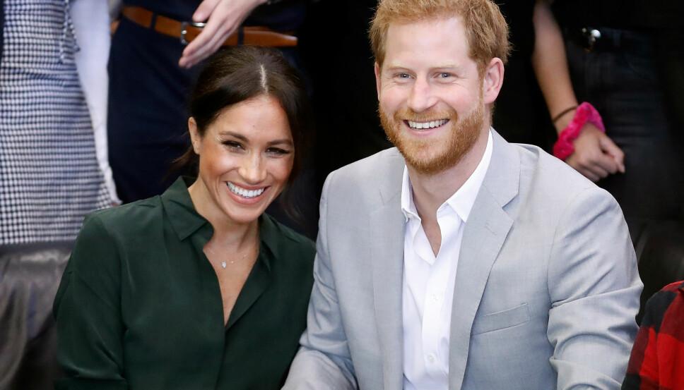 BLIR FORELDRE: Hertuginne Meghan og prins Harry skal bli foreldre våren 2019.