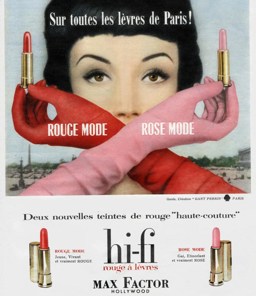 Kosmetikkindustrien fikk virkelig fotfeste ved hjelp av filmindustrien og Hollywood.