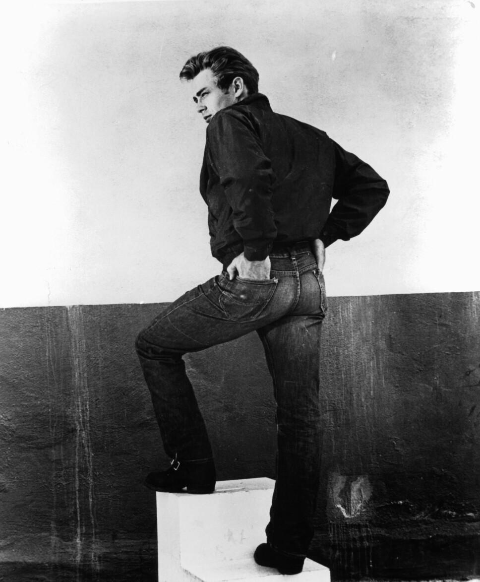 REBELSK: James Dean kledde seg i jeans i Rebel Without a Cause fra 1955.