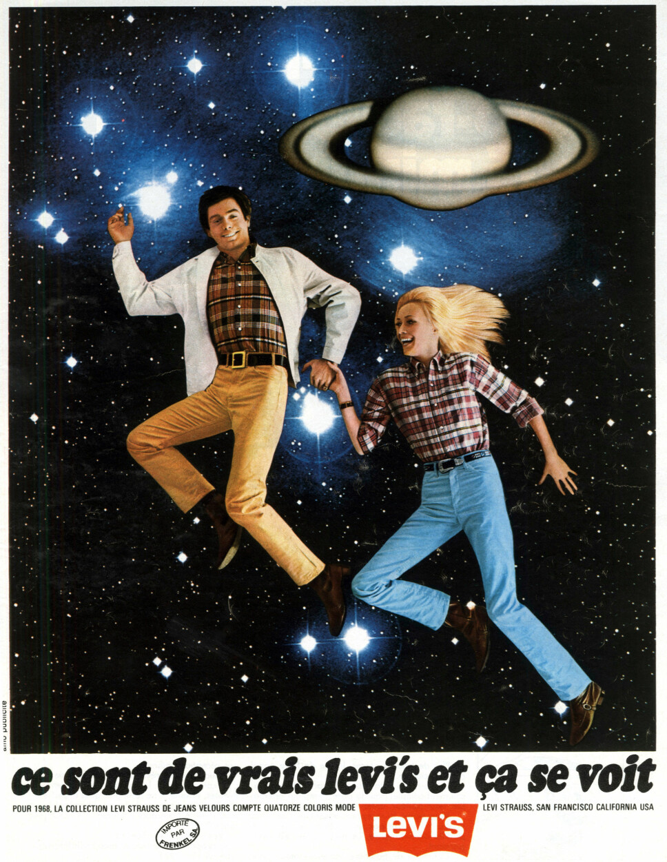 1968: Reklame for Levi's-bukser fra 60-tallet.