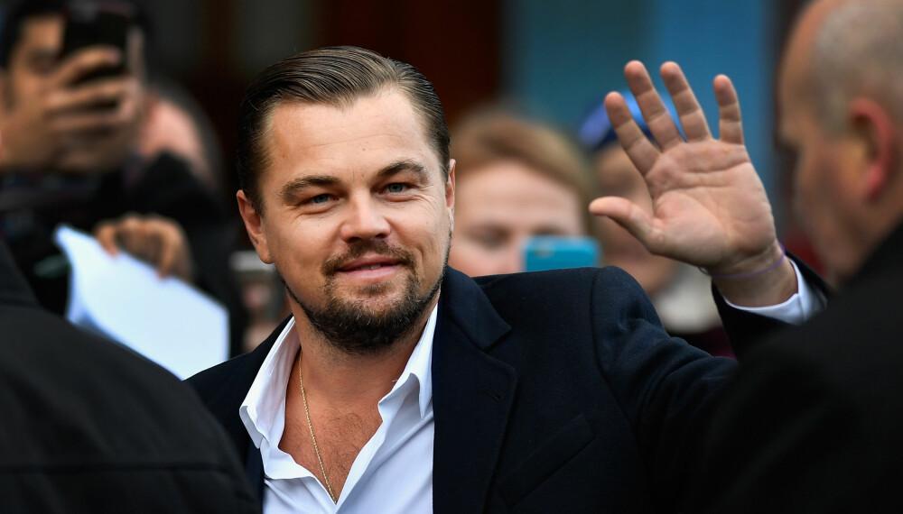 FILMKJEKKAS: Leonardo DiCaprio på tur i Skottland i 2016.