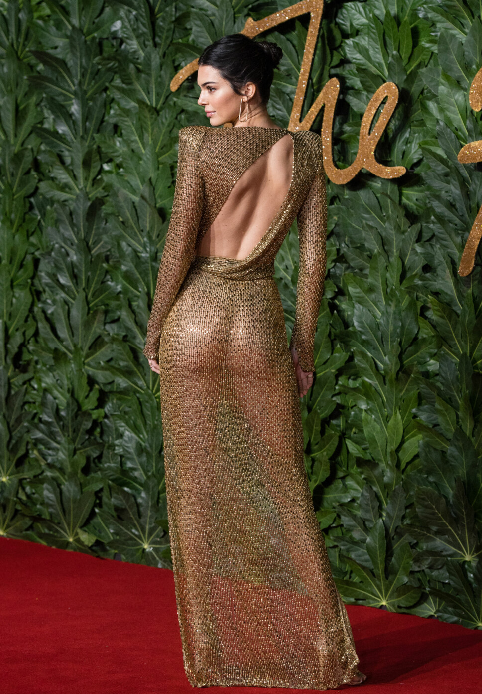 GULL: Kjolen var et samarbeid med Swarovski som også bidrar på Victoria's Secret Fashion Show, hvor Kendall er engel.