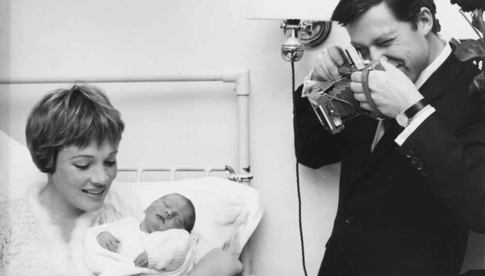 EKTEMANN NUMMER 1: Julie møtte sin første ektemann, Tony Walton, allerede som 12-åring. I 1962 ble datteren Emma Katherine født.