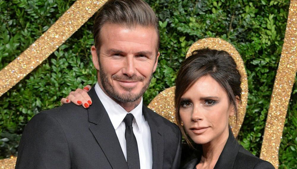LYKKELIGE: David og Victoria Bekcham har vært kjærester siden 1997.