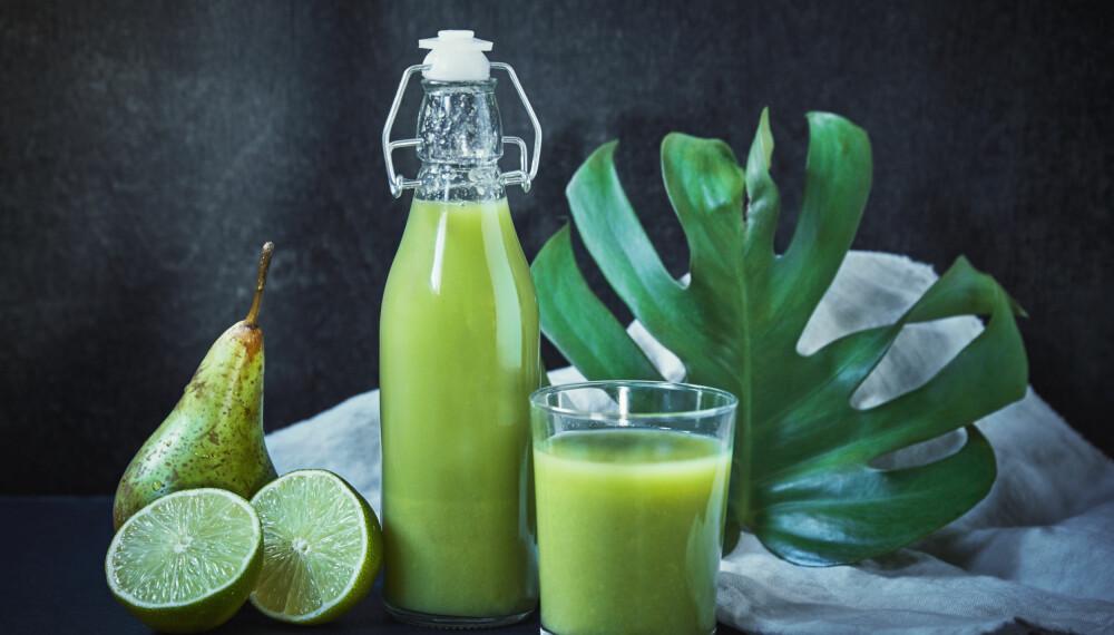 Grønn juice.