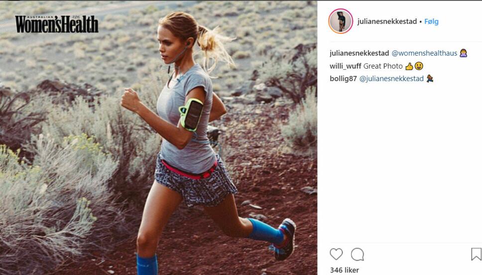 INTERNASJONAL: Juliane Snekkestad var en ettertraktet modell lenge før hun møtte Marius Borg Høiby. Her fra magasinet Women's Health Australia.