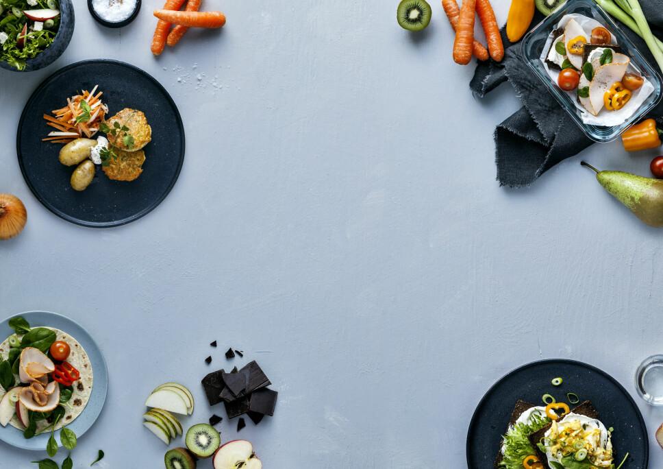 MYE FRUKT OG GRØNT: Camilla Lorentzen sverger til masse frukt og grønt og næringsrike matvarer.