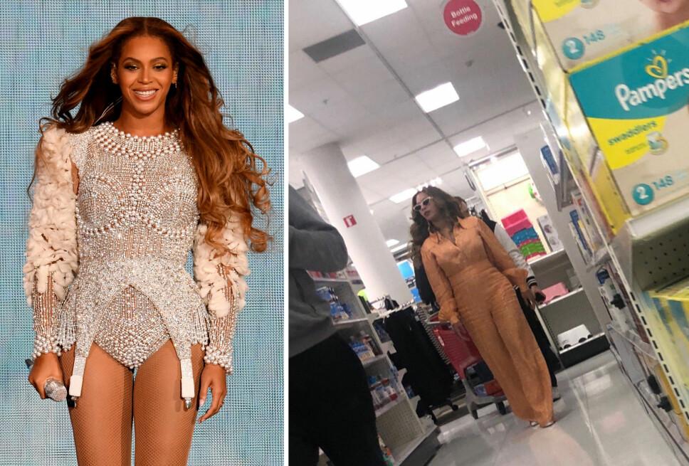 OBSERVERT PÅ BUTTA: Internett er både sjokkerte og overlykkelige over at også Beyoncé shopper på supermarkedkjeden Target.