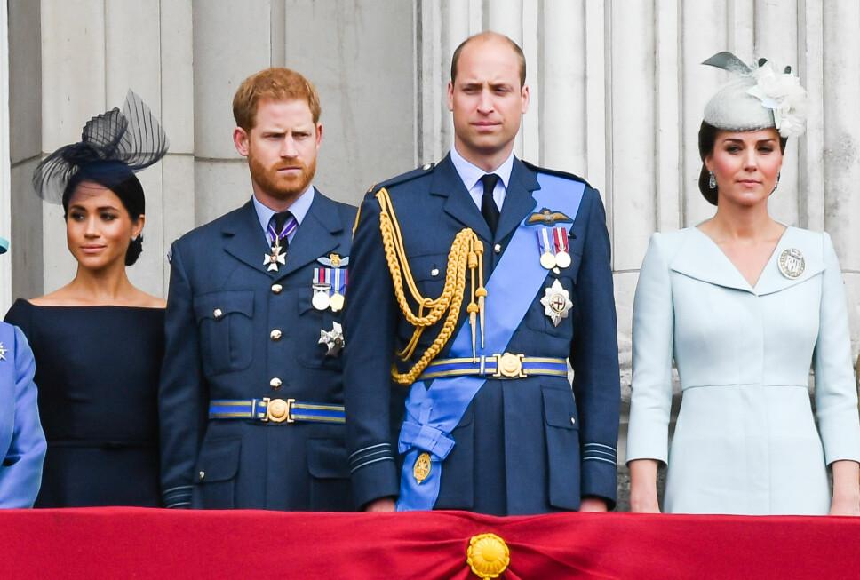 FAMILIEFEIDE: Bråket mellom Meghan og Kate har også gått ut over det nære forholdet mellom William og Harry. KOSTE