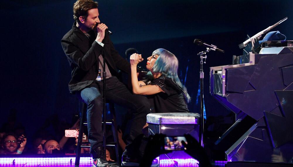 """Lady Gaga og Bradley Cooper fikk et godt forhold under innspillingen av filmen """"A Star Is Born""""."""