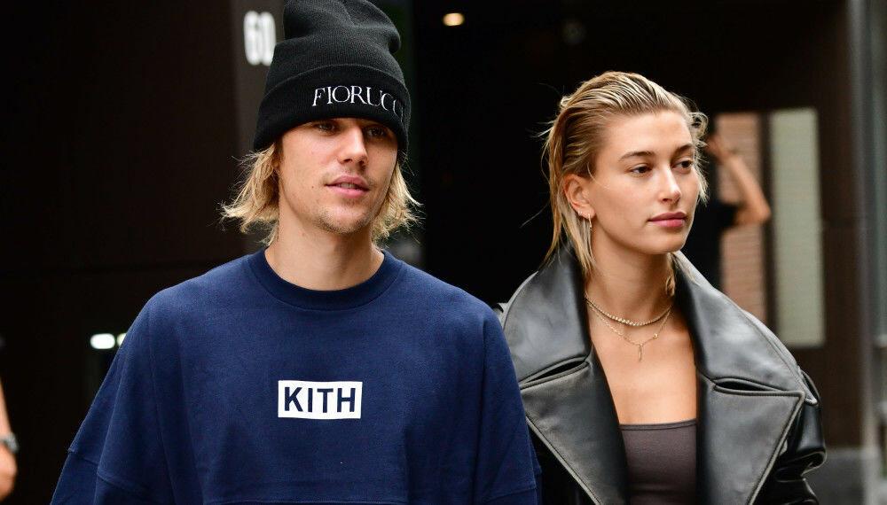 NYGIFT OG KRAVSTOR: Justin Bieber, her med ektefellen Hailey Bieber.