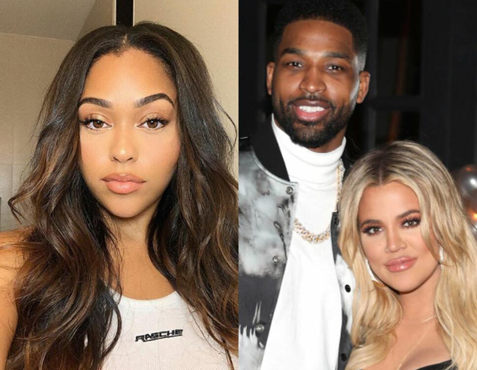 TREKANTDRAMA: Jordyn Woods, Tristan Thompson og Khloe Kardashian.