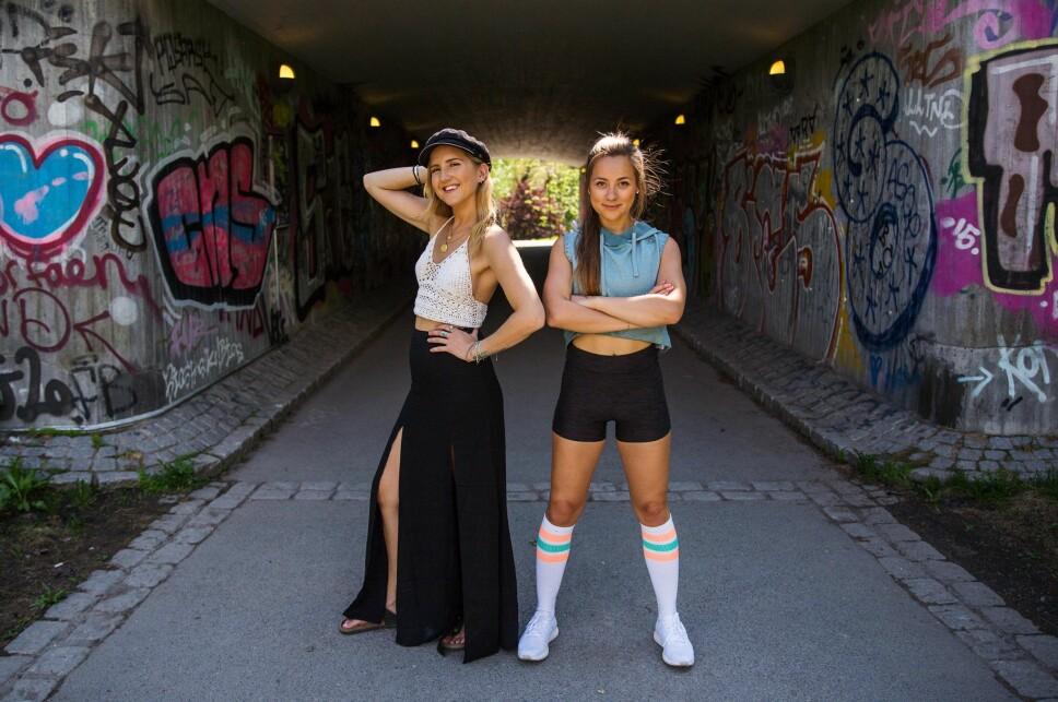 Nora Angeltveit og Hanna Sundquist fra videoserien «Fra GT til PT».