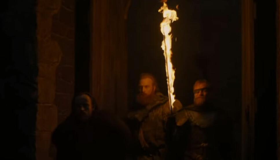 MED I TRAILEREN: Tormund Giantsbane og Beric Dondarrion i noen få sekunders video fra traileren.