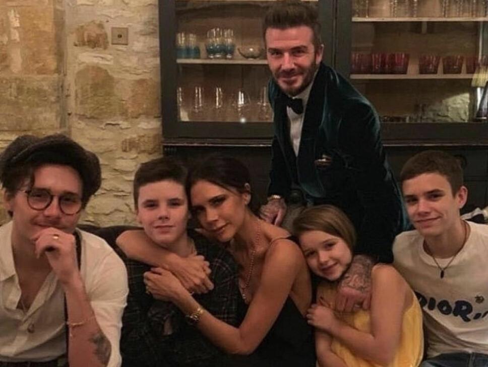 SAMMENSVEISET: Beckham-familien er en svært sammensveiset familie som stiller opp for hverandre.