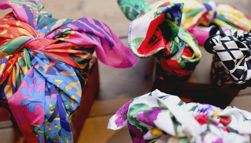 FLERBRUK: Resirkulerte sjal kan brukes i stedet for innpakningspapir.
