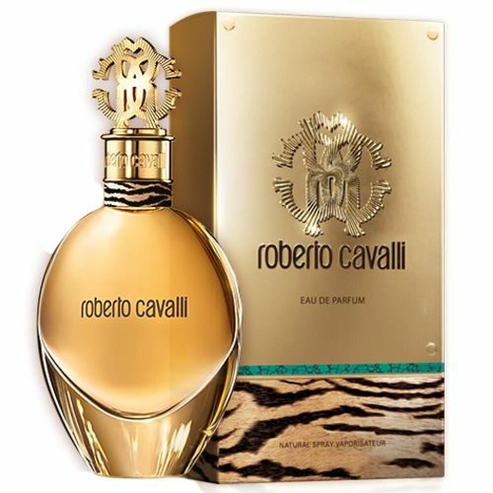 Jeg bruker en gul flaske fra Roberto Cavalli.