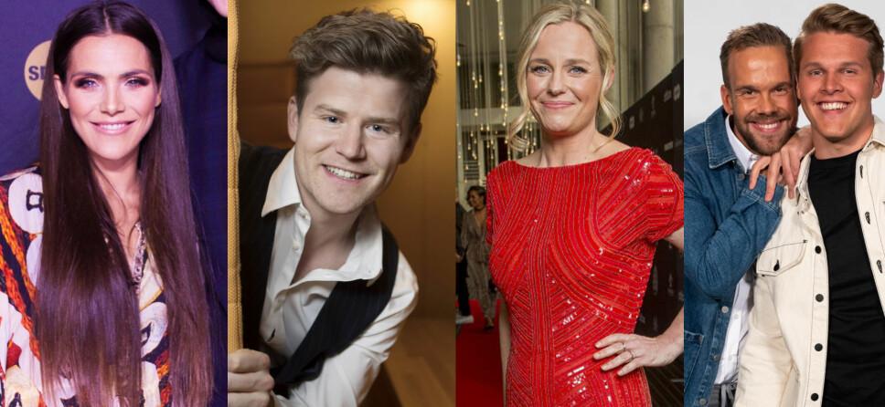 FINALISTENE: Jørgine Massa Vasstrand (f.v.), Nicolay Ramm, Solveig Kloppen og Vegard Harm og Morten Hegseth kan alle vinne Publikumsprisen 2019.
