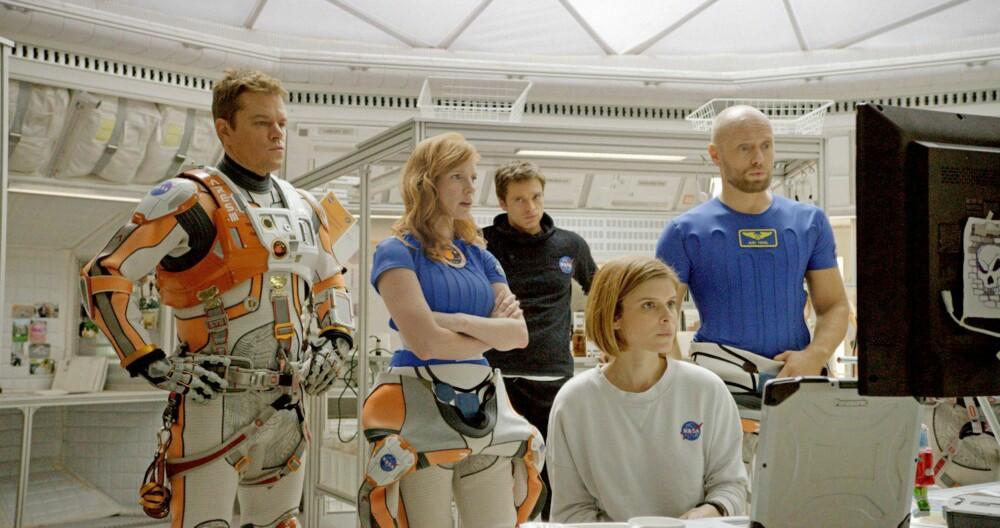MED STJERNENE: I 2015 spilte Aksel i filmen «The Martian» sammen med blant andre Matt Damon og Jessica Chastain.
