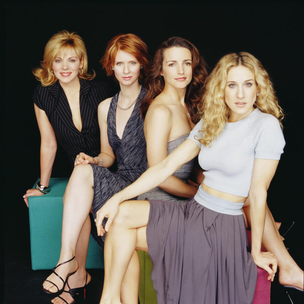 NEW YORK-DAMER: Kim Cattrall, Cynthia Nixon, Kristin Davis og Sarah Jessica Parker gjorde det kult å være singel.